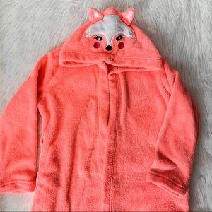 Neon Orange Hooded Fox Robe